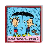 Onder moeder's paraplu_