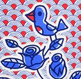 Kussen Blue bird 50x50cm_